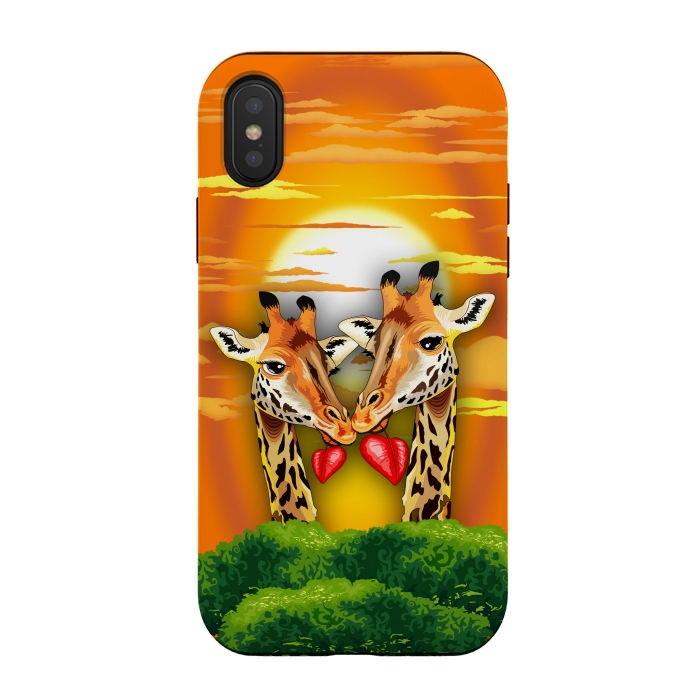 Iphone Xs X Cases Giraffes In By Bluedarkart Artscase