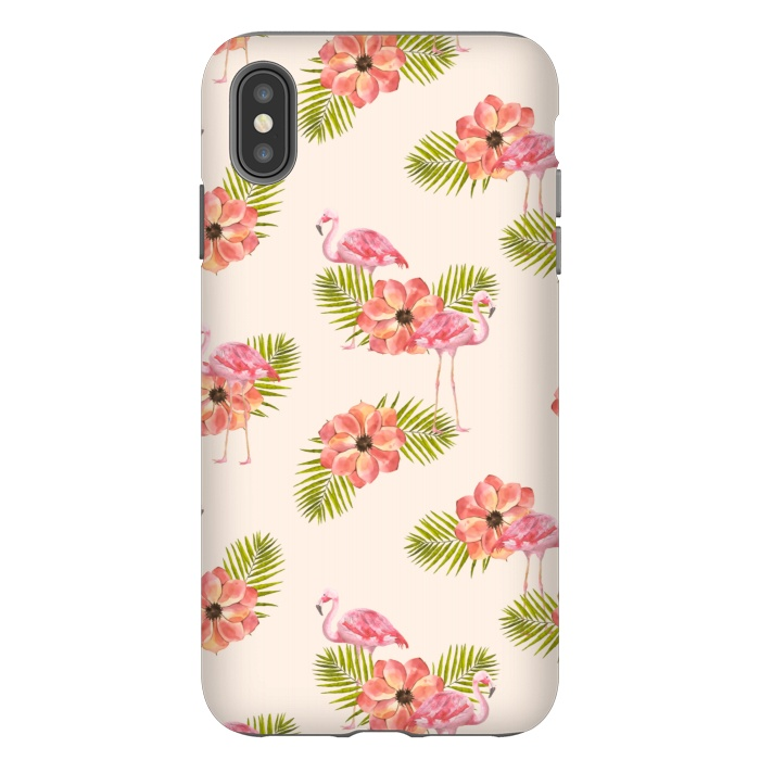 Flamingo and Floral Pattern