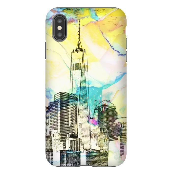 New york skyline cityscape travel sketch