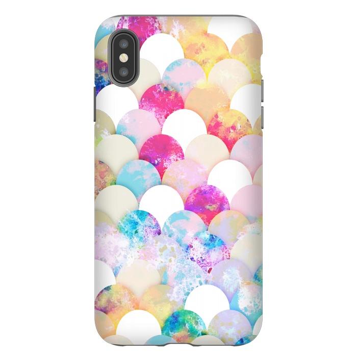 Colorful watercolor splattered seashells pattern
