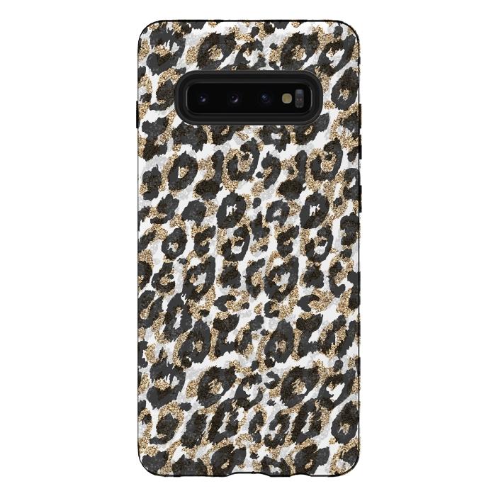Elegant gold leopard animal print pattern