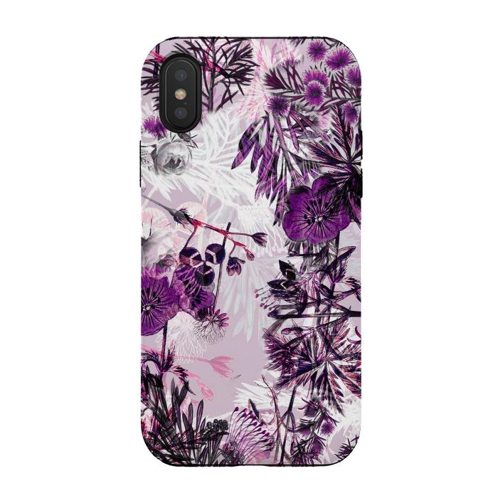 Romantic purple botanical illustration