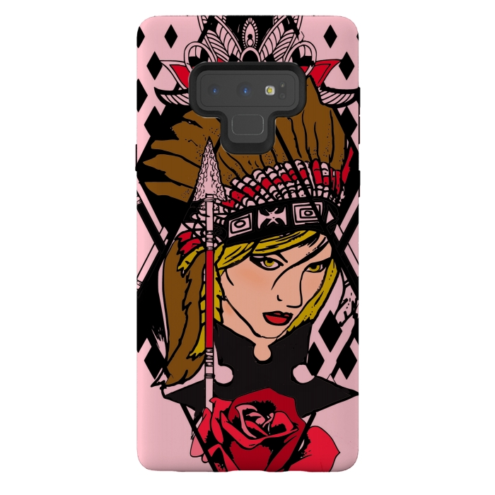 Native american tattoo style design headdress girl pretty phonecase