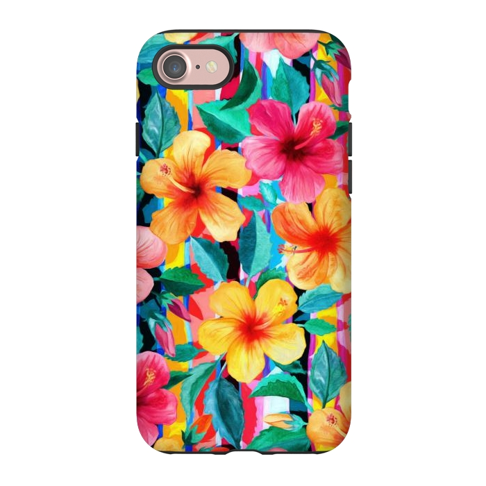OTT Maximalist Hawaiian Hibiscus Floral with Stripes