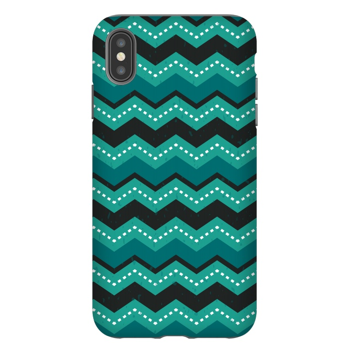 Chevron Stripes - Teal and Mint