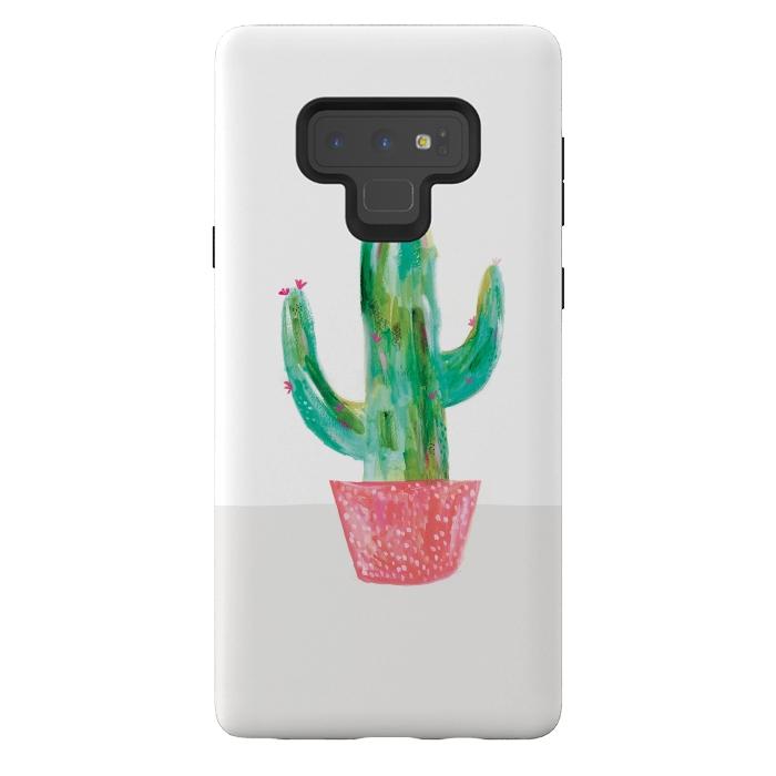 Cactus in coral pot