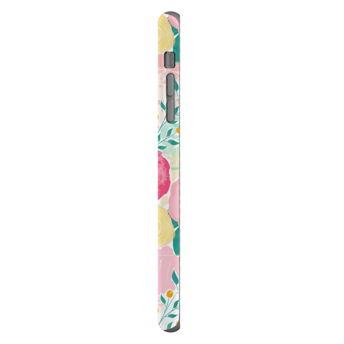 Modern brush paint abstract floral paint