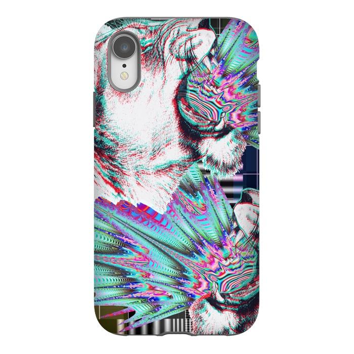 Psychedelic colors tiger roar