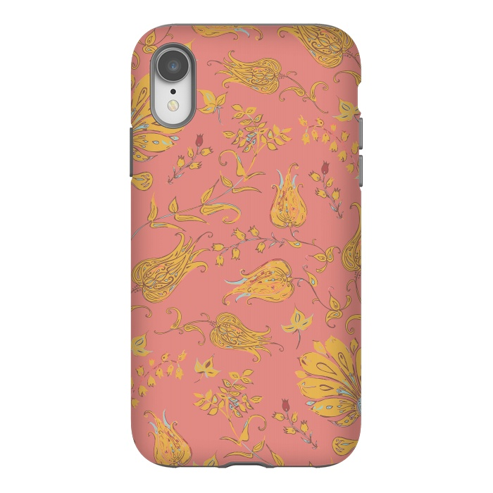 Paradise Floral - Coral & Yellow