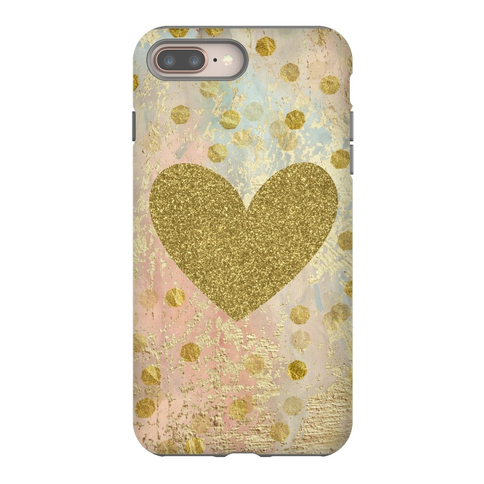 Golden Heart And Sparkles