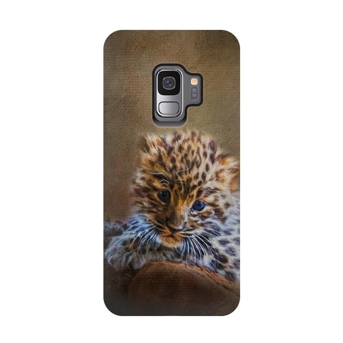 Cute painting amur leopard cub