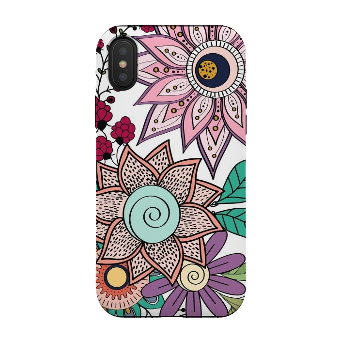 Stylish floral doodles vibrant design