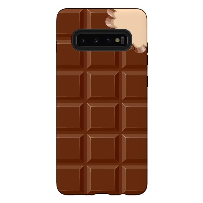 Chocolate Sweet Bar with a bite out of the corner
