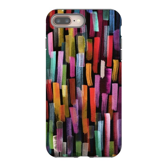 Colorful Brushstrokes Black