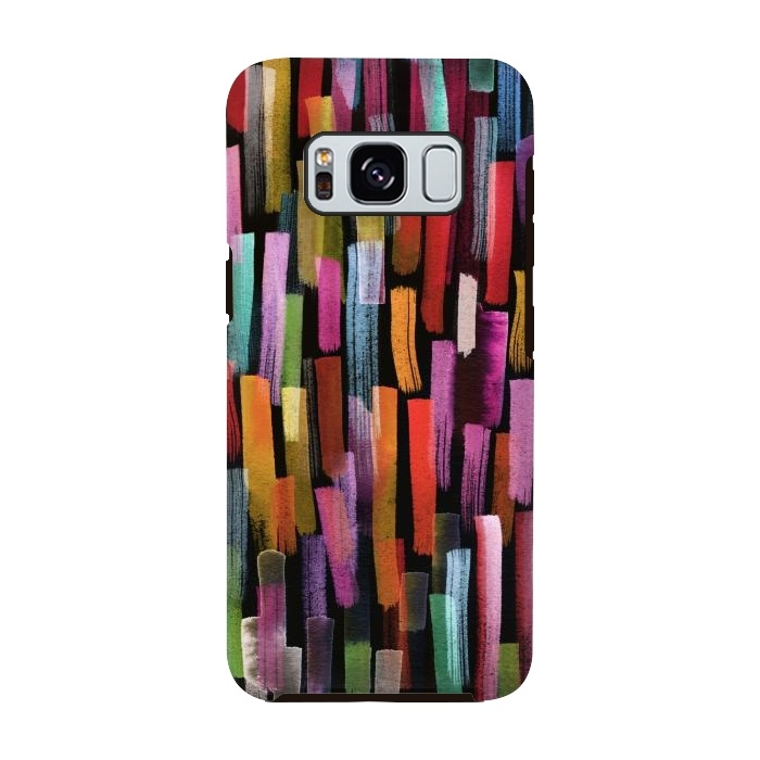 Colorful Brushstrokes Black