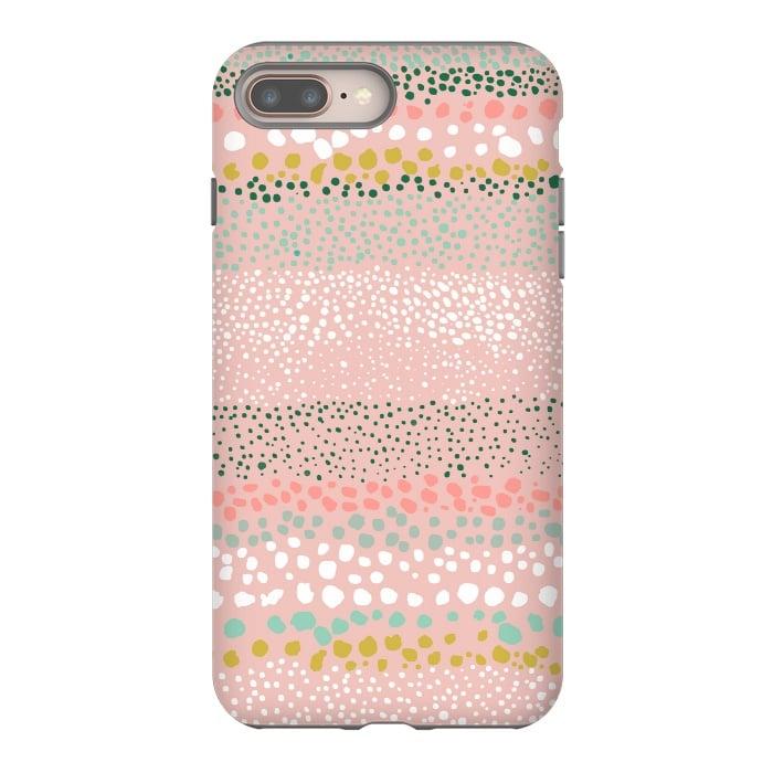 Little Textured Dots Stripes Pink
