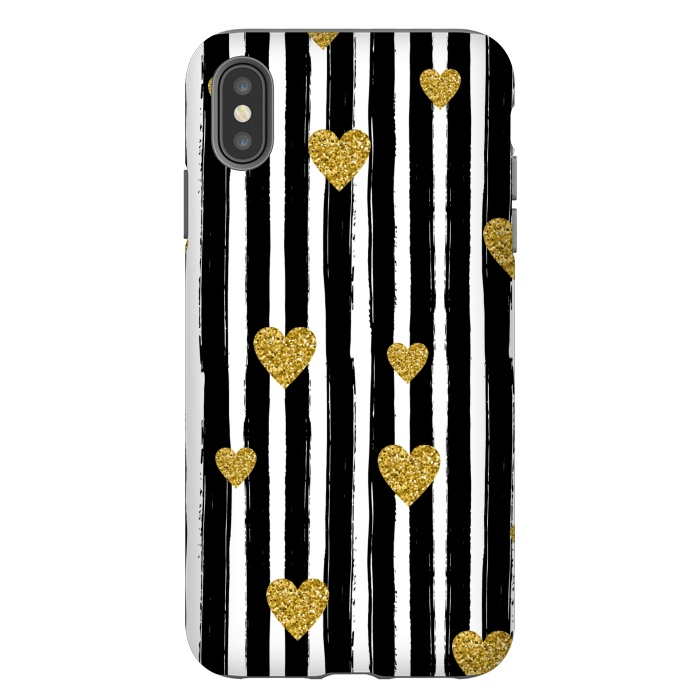 BLACK STRIPES WITH HEARTS