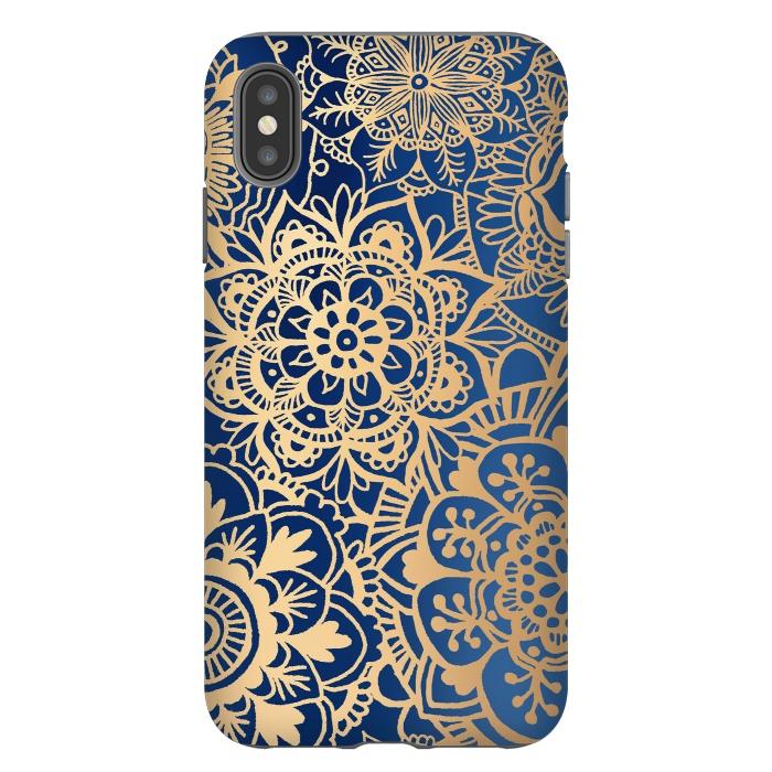 Blue and Gold Mandala Pattern