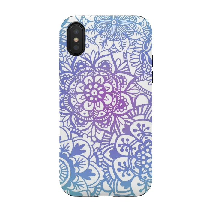 Pastel Purple and Blue Mandala Pattern
