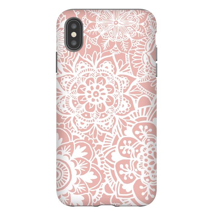 White and Pink Mandala Pattern