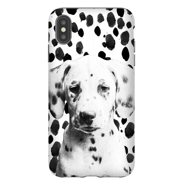Cute dalmatian puppy and ink spots