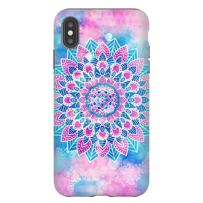 Pink blue flower mandala