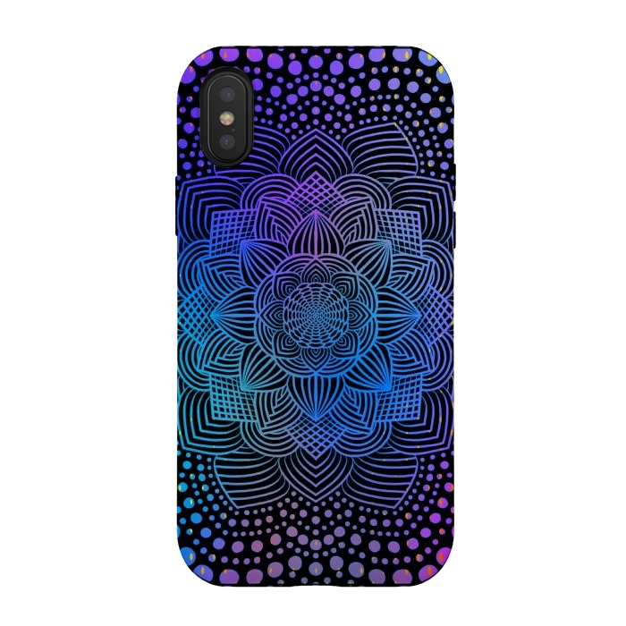 Blue purple mandala flower