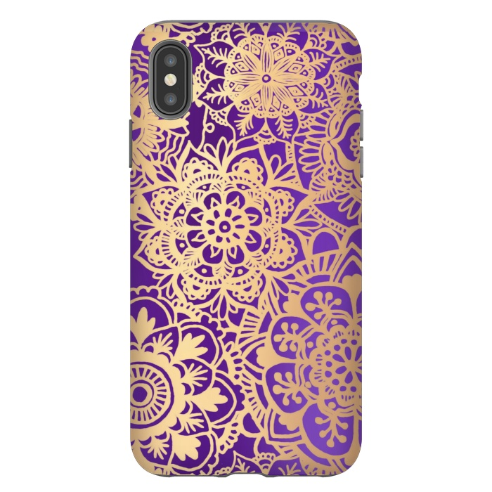Purple and Gold Mandala Pattern