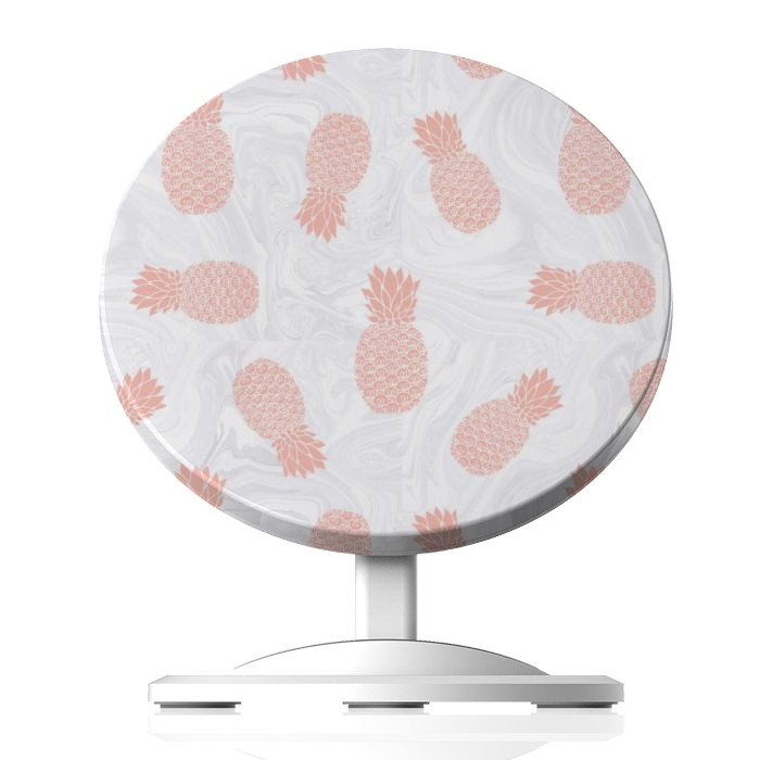 Pink Pineapples on White Marble