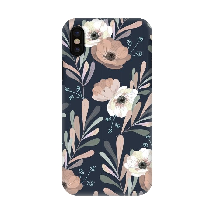 Olives and anemones - blue
