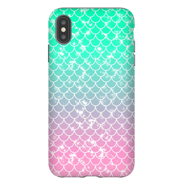 Mint to Pink Ombre Mermaid Pattern