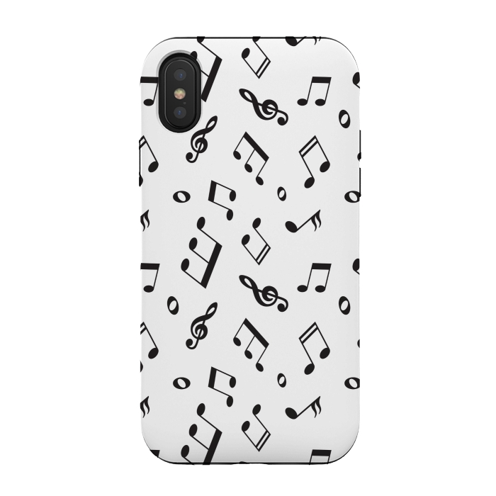 BLACK AND WHITE MUSICAL PATTERN