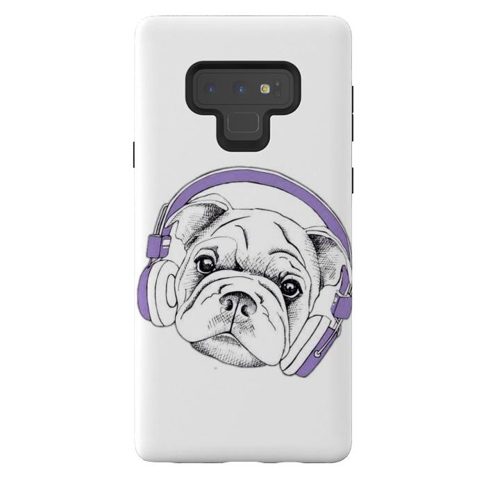 french bulldog listening music