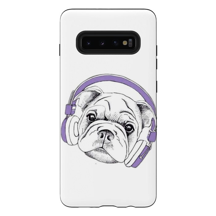 french bulldog listening music