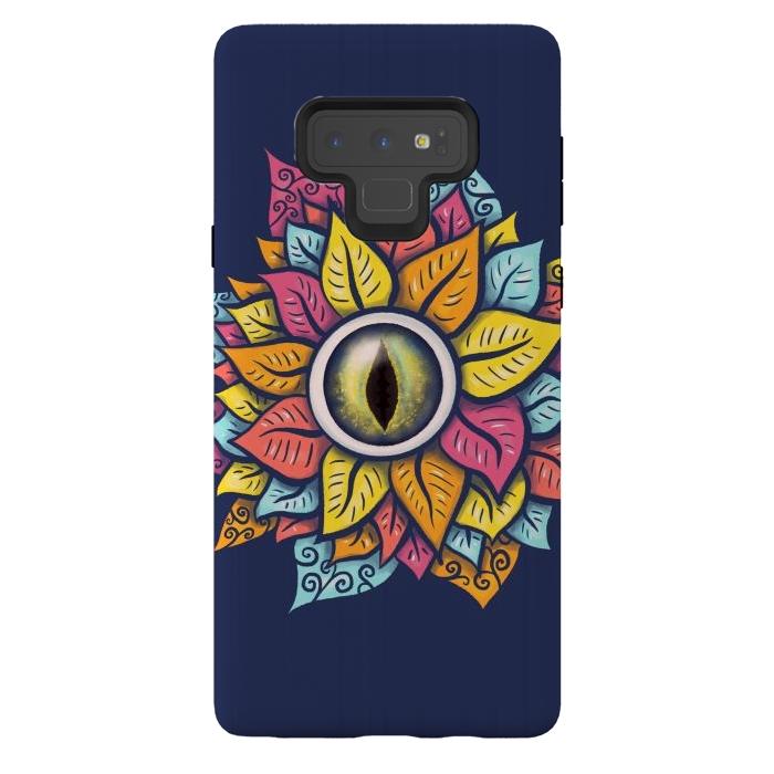 Colorful Reptile Eye Flower Fun Weird Digital Art