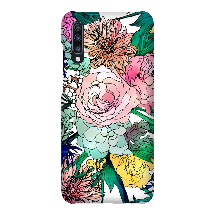 Stylish Colorful Watercolor Floral Pattern