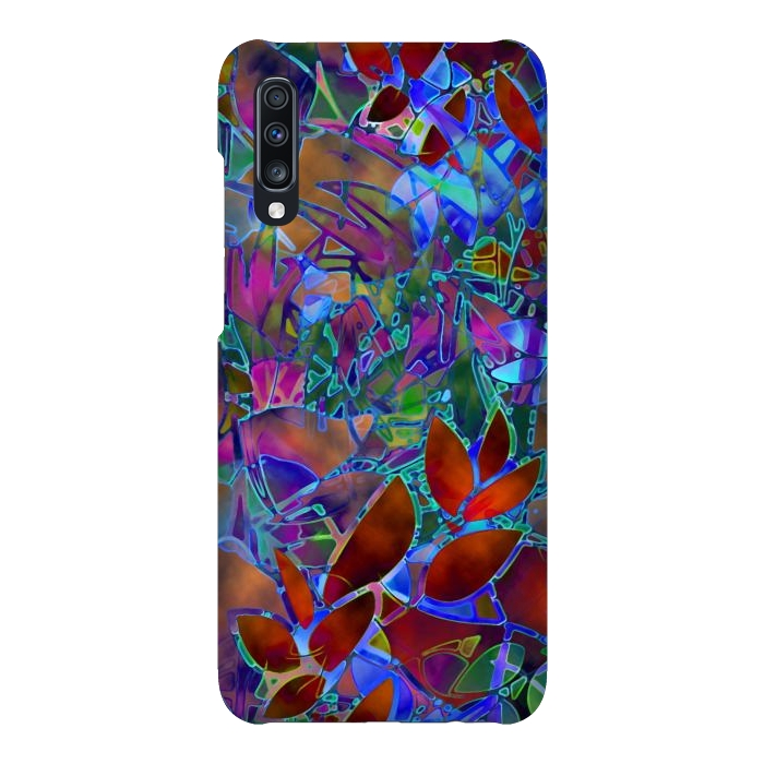 Floral Abstract Stained Glass G174