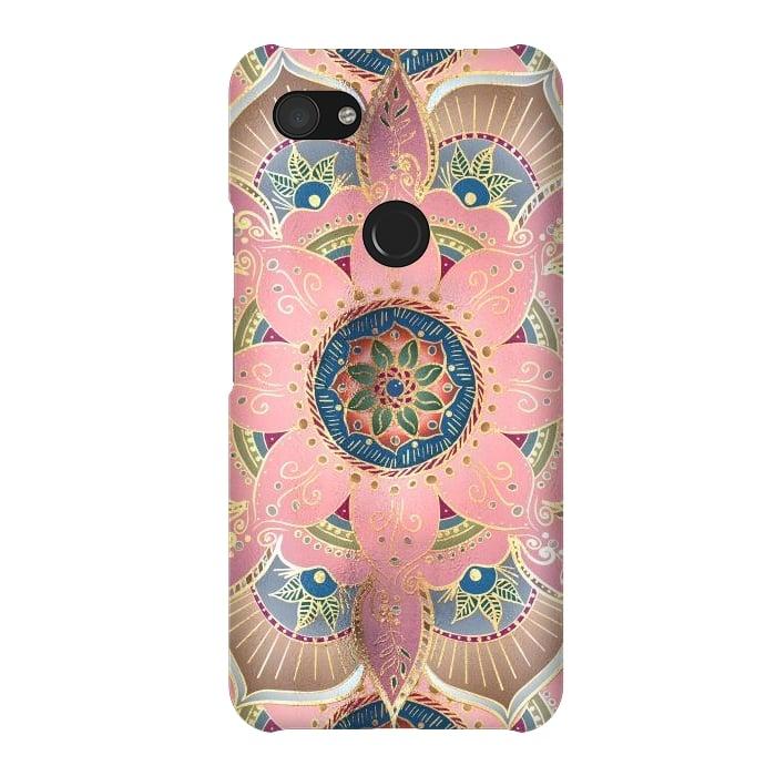 Trendy Metallic Gold and Pink Mandala Design