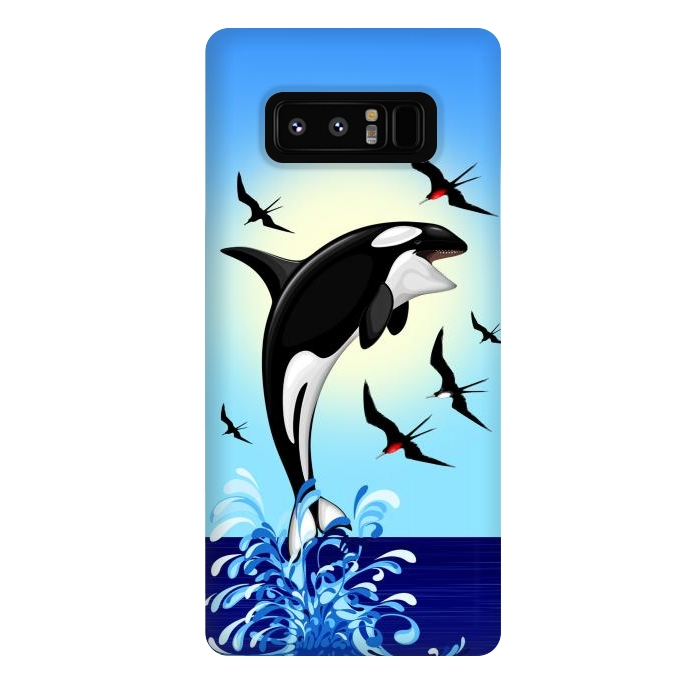 Orca Killer Whale jumping out of Ocean