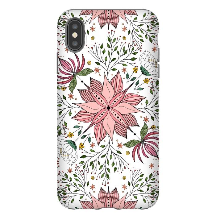 Cute Vintage Pink Floral Doodles Tile Art