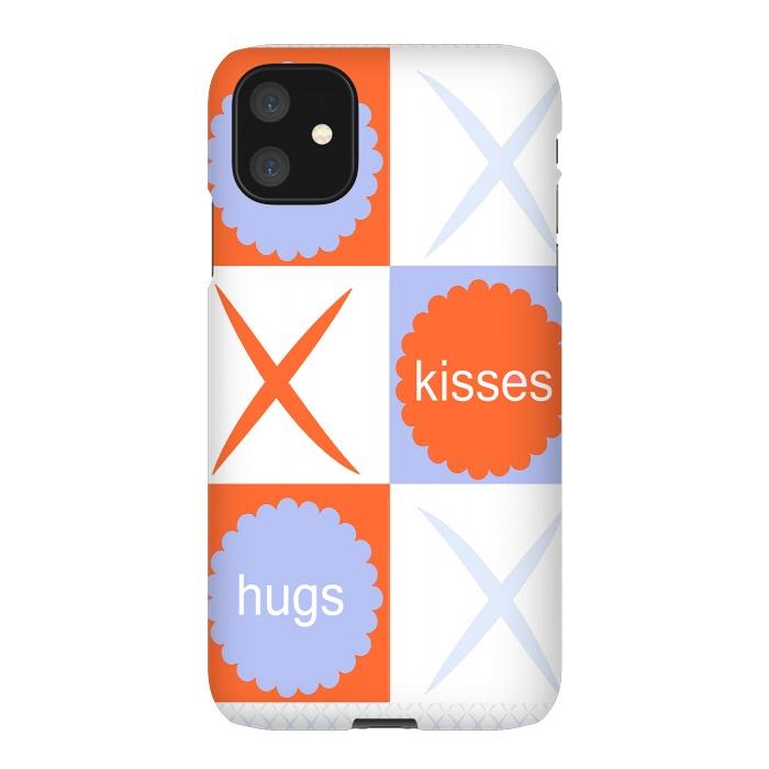 X's & O's -Orange/Lavender