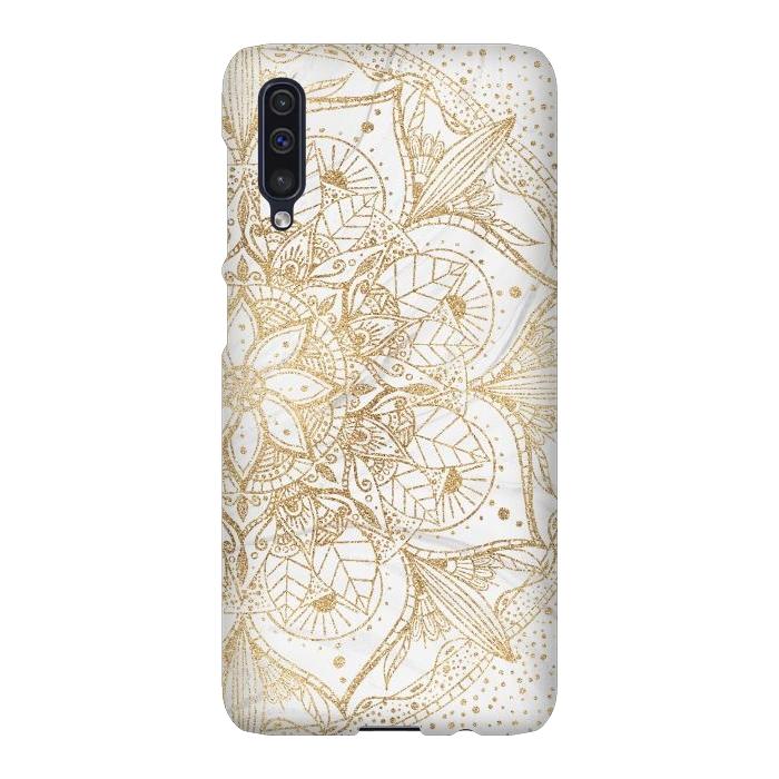 Trendy Gold Floral Mandala Marble Design