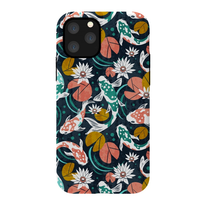 Koi Pond Pattern iphone 11 case