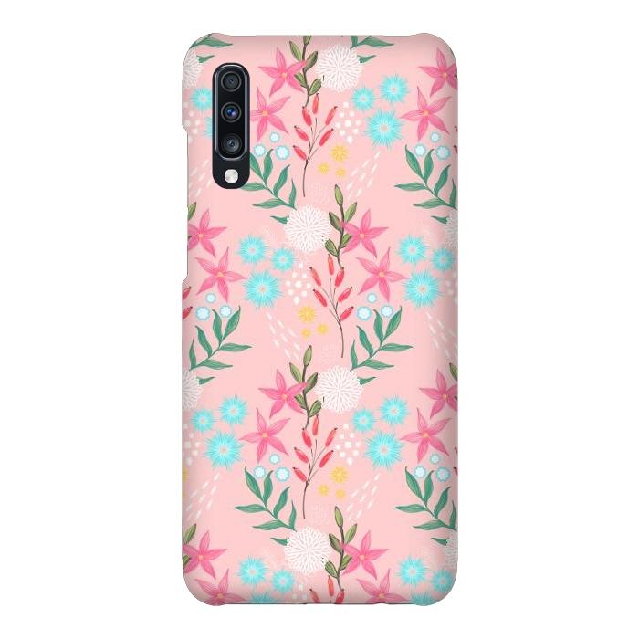 Cute Pink Flowers Creative Art Pattern