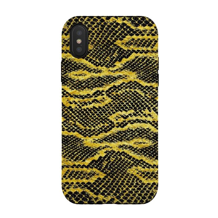 Black and Gold Snake Skin II