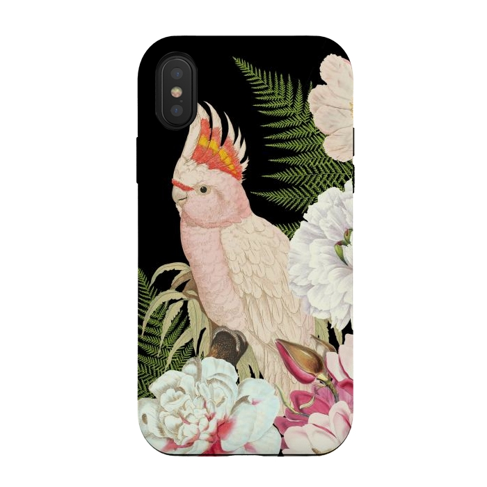Vintage Cockatoo in Flower Jungle