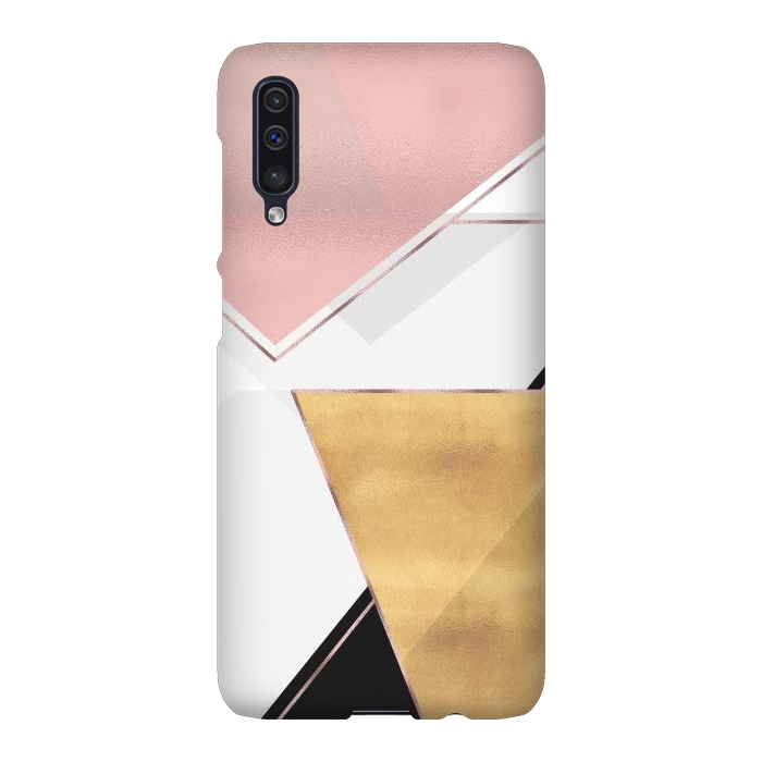 Stylish Gold and Rose Pink Geometric Abstract Design