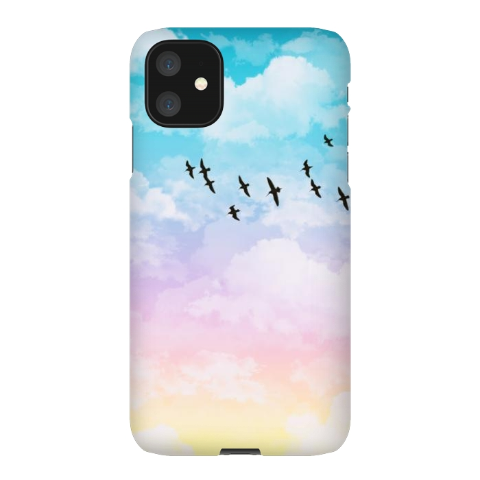 Pastel Clouds with Birds