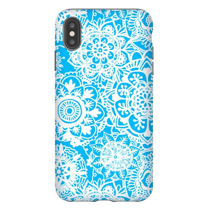 Blue and White Mandala Pattern