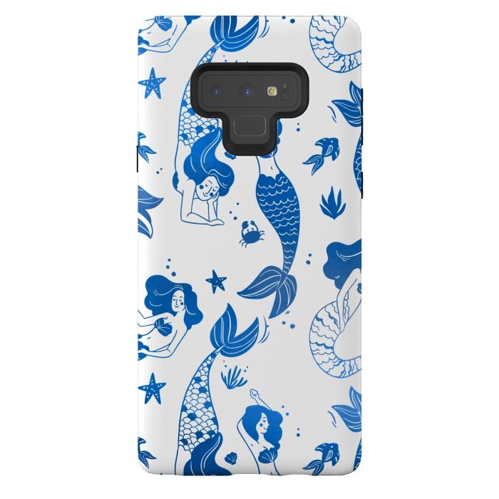 blue mermaid pattern